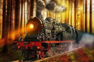 Dětské básničky: Jarní vlak (z rubrik Básničky o jaru, Básničky o zvířátkách)