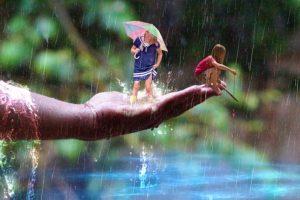 Dětské básničky: Srpnový deštíček (z rubrik Básničky o počasí, Básničky o létu)