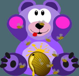 Dětské básničky: Medvědí rozpočítadlo (z rubrik Říkanky pro nejmenší, Básničky o zvířátkách, Básničky o jídle)
